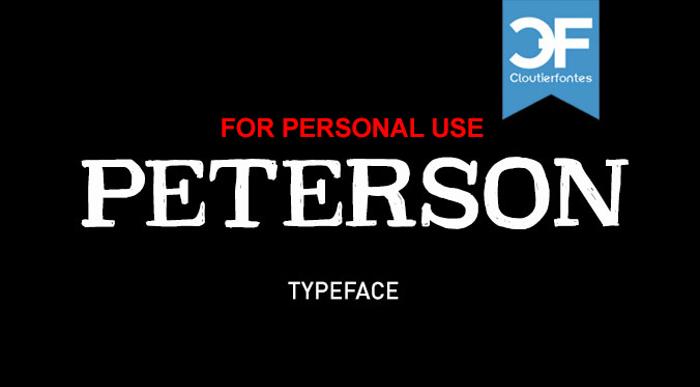 CF Peterson Font poster