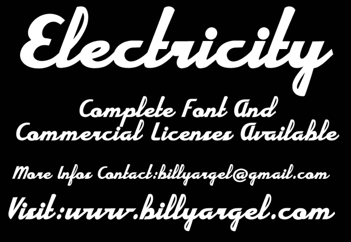 Electricity Font poster