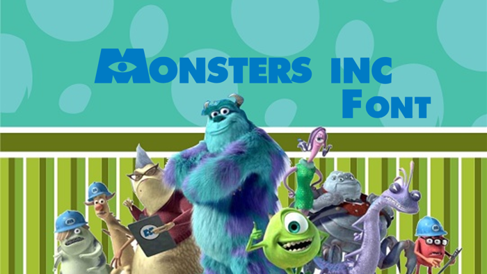 Monsters Inc Font poster