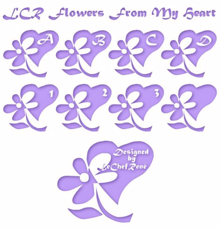 LCR Flowers From My Heart Font poster