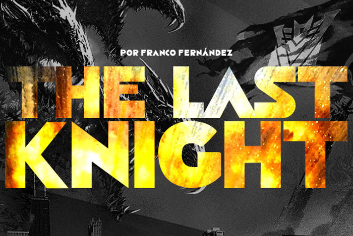 The Last Knight Font poster