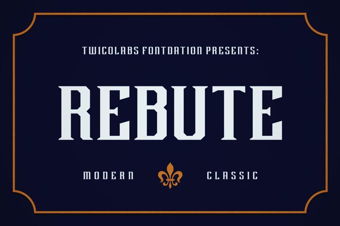 Rebute Font poster