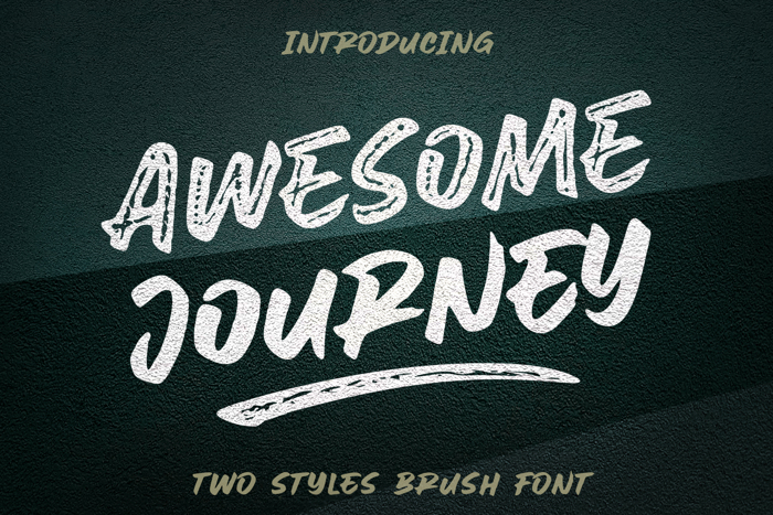 Awesome Journey Brush Font poster