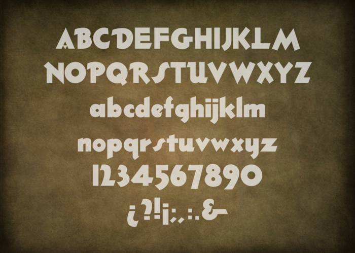 Thick Deco Font poster