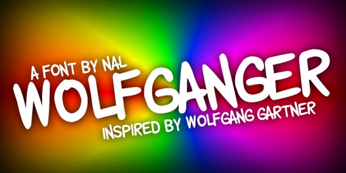 Wolfganger Font poster
