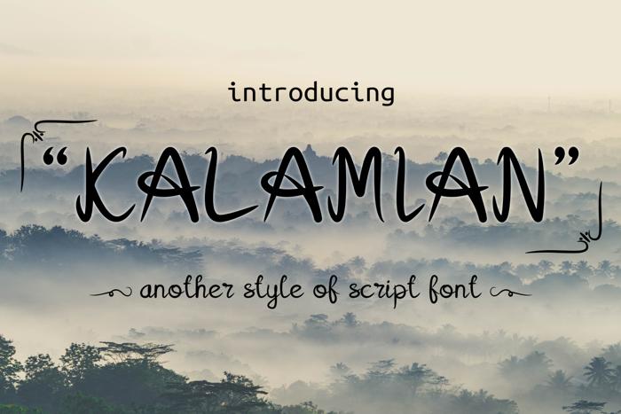 Kalamian Font poster