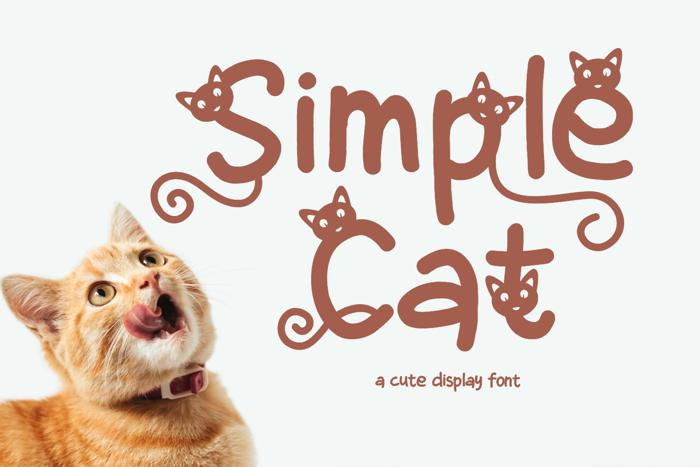 Simple Cat Font poster