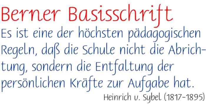 Berner Basisschrift Font poster