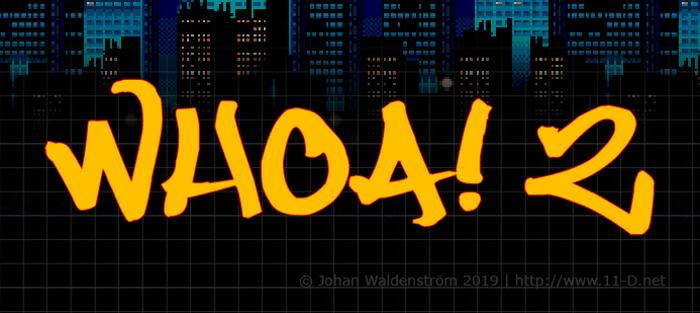 Whoa! 2 Font poster