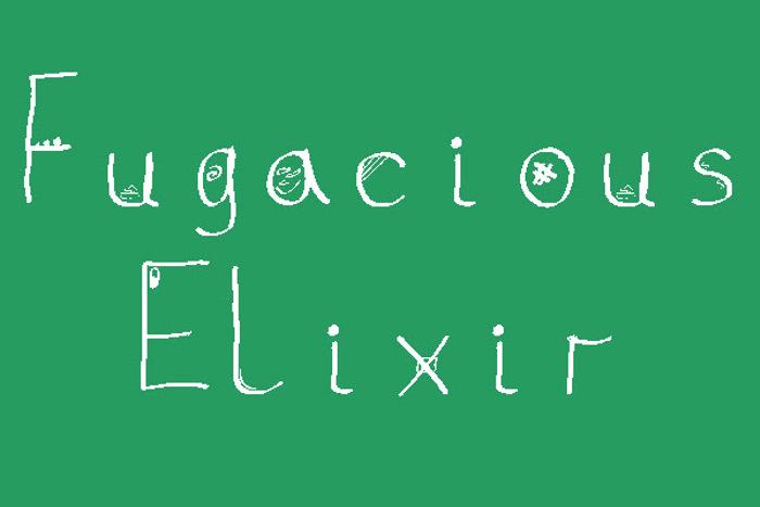 Fugacious Elixir Font poster