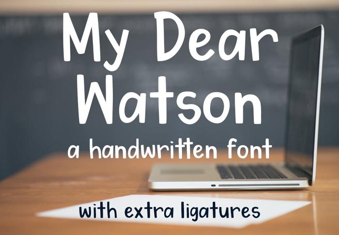 My Dear Watson Font poster