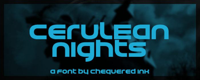 Cerulean Nights Font poster