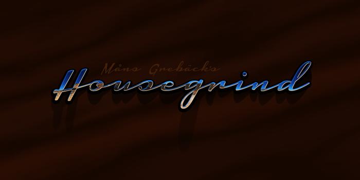 Housegrind Font poster