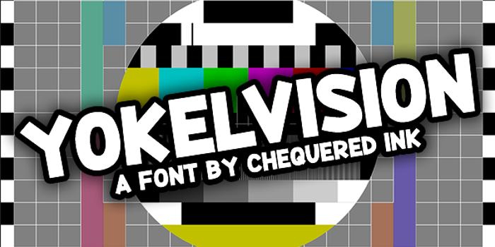 Yokelvision Font poster