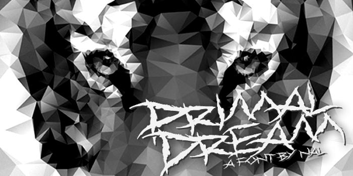 Primal Dream Font poster