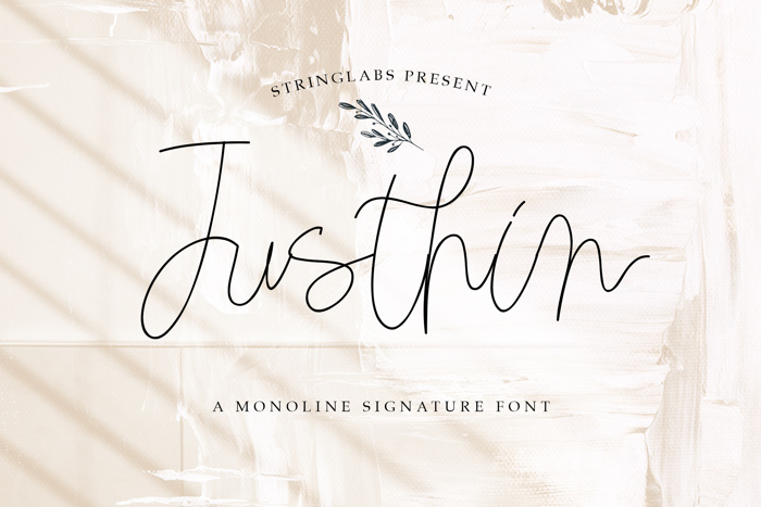 Justhin Font poster