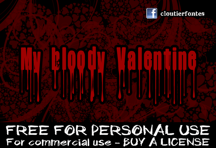 CF My Bloody Valentine Font poster