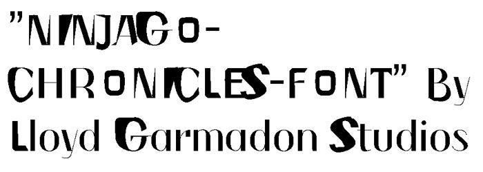 NINJAGOCHRONICLES Font poster