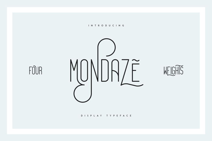 Mondaze Font poster