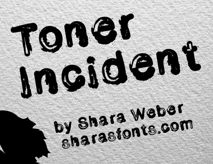 Toner Incident Font poster