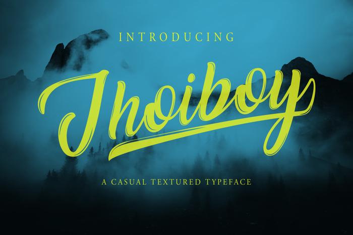 Jhoiboy Font poster