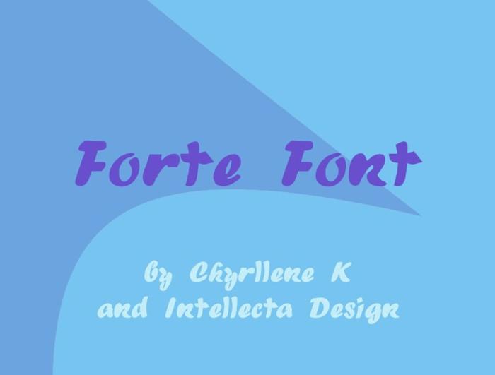 Forte Font poster