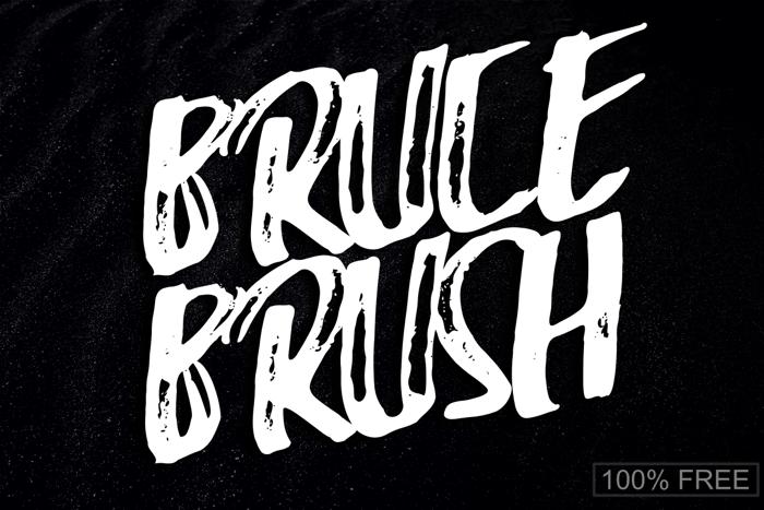 Bruce Brush Font poster