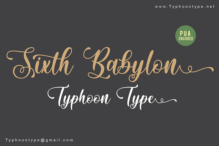 Sixth Babylon Font poster