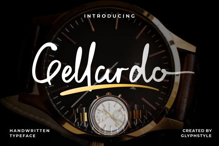 Gellardo Font poster