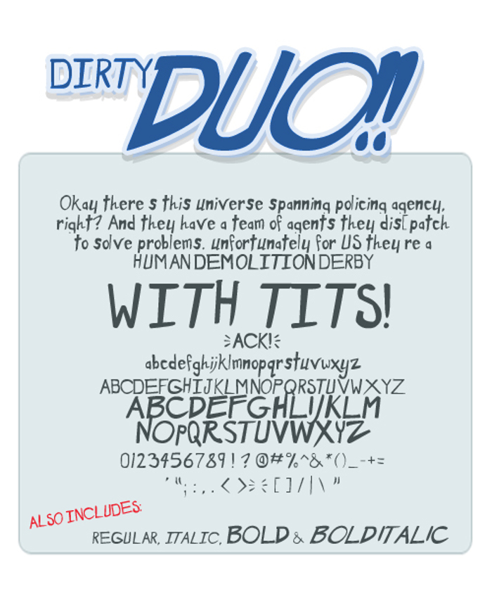 Dirty Duo Font poster