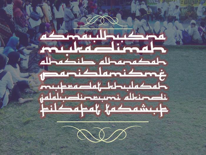 Mukadimah Font poster