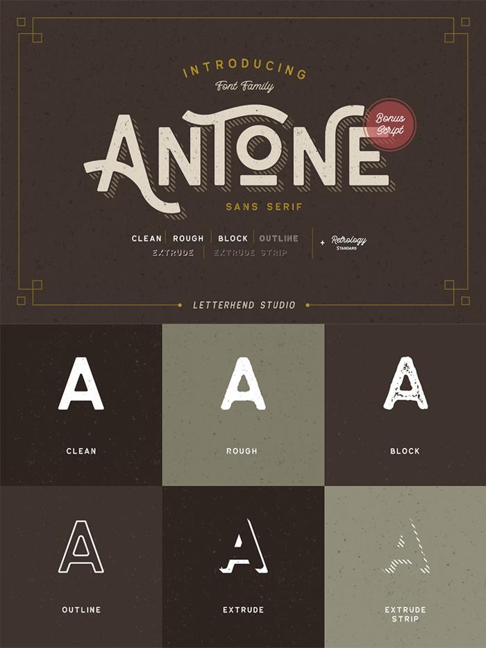 Antone DEMO Font poster
