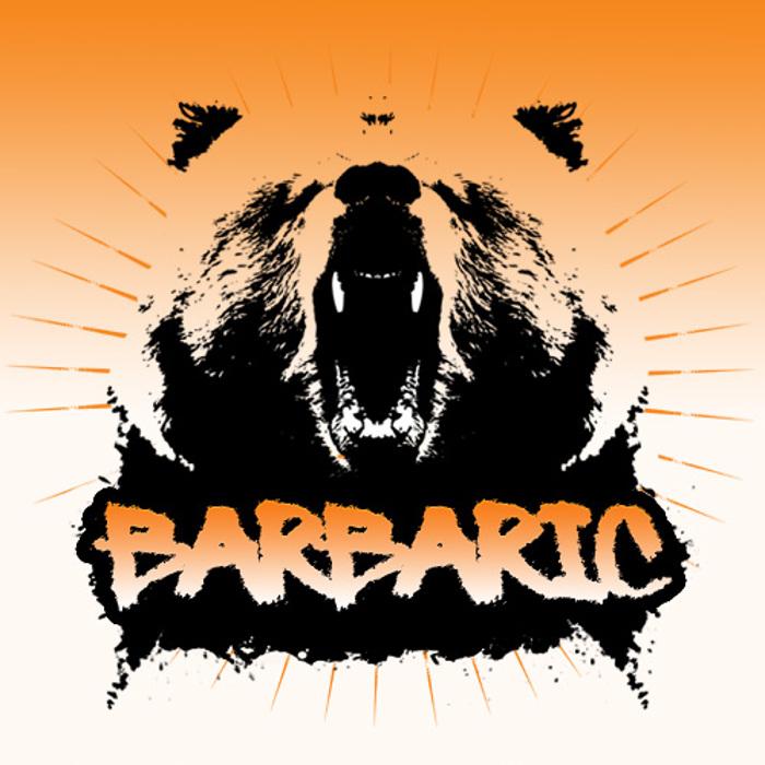 Barbaric Font poster