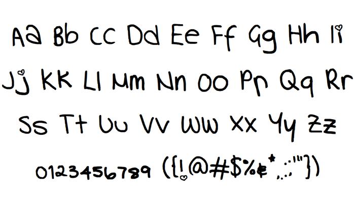 handwriting Font poster