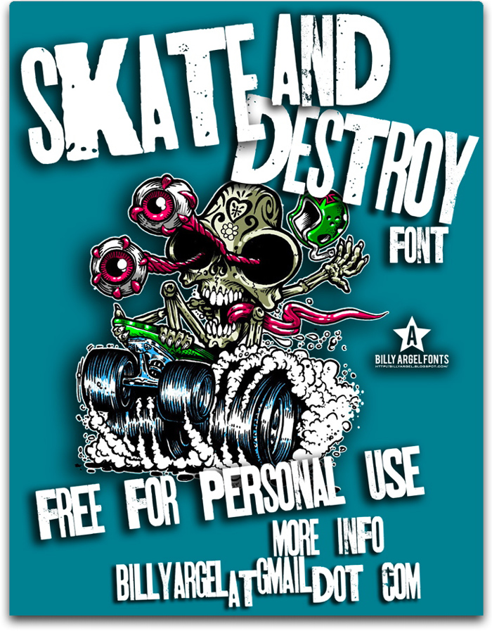 SKT AND DESTROY Font poster