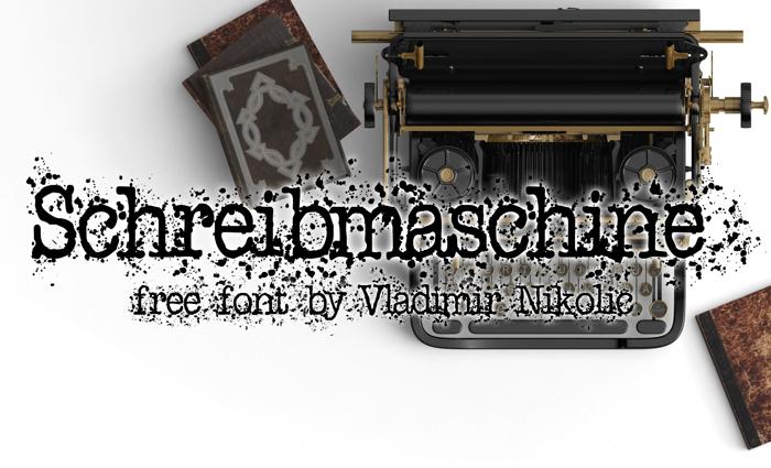 Schreibmaschine Font poster