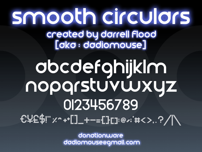 Smooth Circulars Font poster