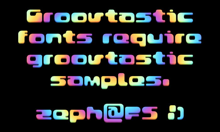Groovtastic Font poster