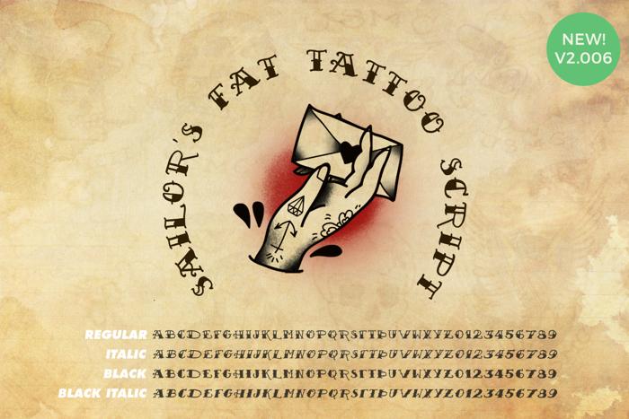 Sailor's Fat Tattoo Script Font poster