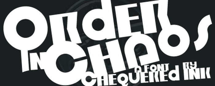 Order in Chaos Font poster