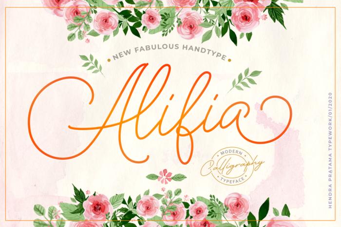 Alifia Font poster