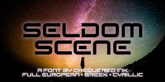 Seldom Scene Font poster