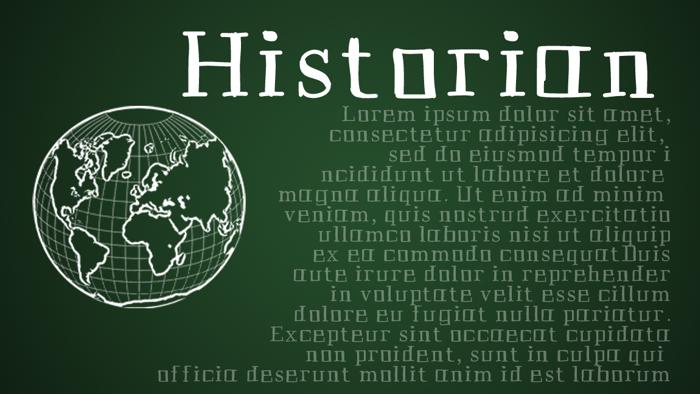 Historian Font poster