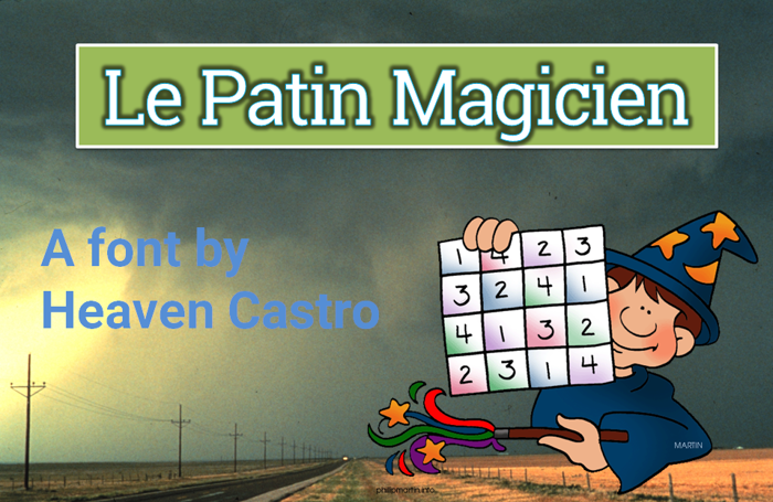 Le patin magicien Font poster