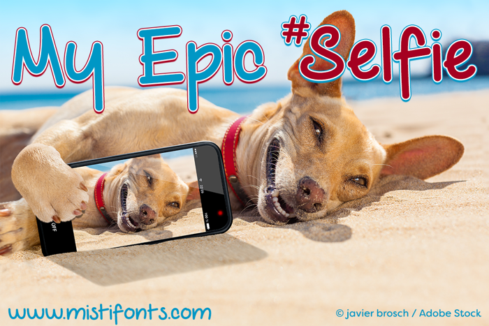My Epic Selfie Font poster