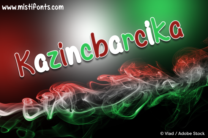 Mf Kazincbarcika Font poster