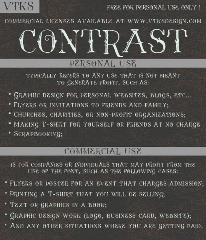Vtks Contrast Font poster