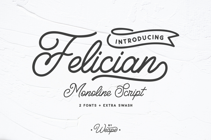 Felician Font poster