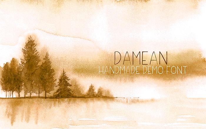 Damean Demo Font poster