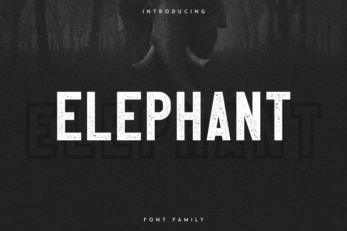 Elephant Font poster
